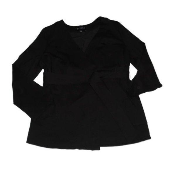 Eloquii Black Blazer Jacket Belted Studio